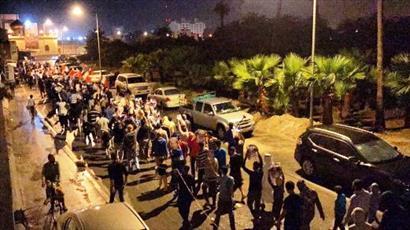تظاهرات شبانه  بحرینیها در سالگرد انقلاب مردمی + تصاویر
