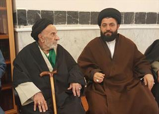 دیدار مدیر حوزه کرمانشاه با روحانی پیشکسوت