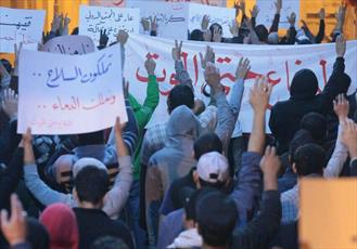 حضور گسترده شیعیان بحرین در تظاهرات مسالمتآمیز/ ائتلاف انقلابیون بحرین خواستار شکستن محاصره الدراز شد