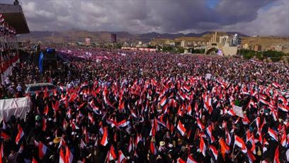 دعوت انصار الله یمن به مشارکت گسترده در تجمع سومین سالگرد تجاوز عربستان به یمن