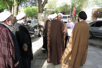 تصاویر/ بازدید مدیر حوزه های علمیه کشور از آزمون ورودی حوزه یزد