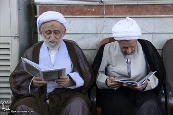 تصاویر/ مراسم بزرگداشت آیت الله سید میرزا حسن صالحی در حسینیه شهدای قم