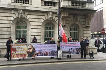 شیعیان لندن به سخنان ضد شیعی محمد بن سلمان اعتراض کردند
