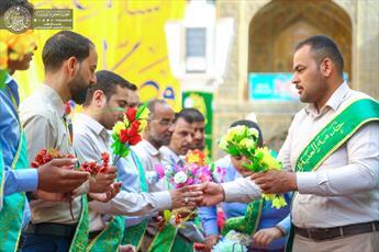 جشن با شکوه نیمه شعبان در حرم امام علی(ع) برگزار شد+ تصاویر
