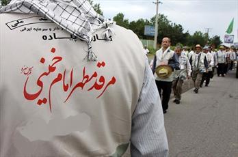 حرکت کاروان پیاده امام علی(ع)  به سمت مرقد امام خمینی(ره)