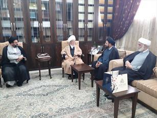 رئیس مرکز ارتباطات و بین الملل حوزه با آیت الله نابلسی دیدار کرد