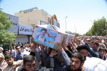 پیکر پاک شهید حجت الاسلام تقوی در قم تشیع شد