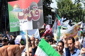 شکوه و عظمت راهپیمایی روز قدس باعث تقویت جبهه مقاومت می شود