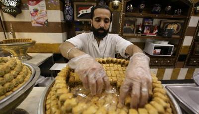 شیرینی عید فطر در دمشق با طعم پس از داعش+تصاویر