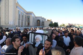 مراسم ترحیم  حجت الاسلام والمسلمین  مسلمی کاشانی برگزار شد