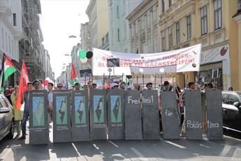 گزارشی از راهپیمایی روز قدس در اتریش +تصاویر