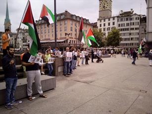 توزیع هزار اعلامیه ضد صهیونیستی کنار پارلمان سوئیس +عکس