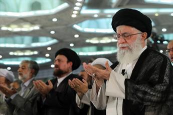 نماز عید سعید فطر به امامت رهبر معظم انقلاب اقامه شد