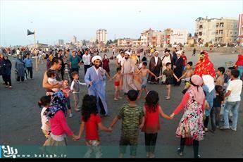 تبلیغ جهادی رهپویان فقه و  فقاهت در سواحل بابلسر+ عکس