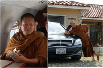 روحانی بودایی اختلاسگر تحویل تایلند می شود