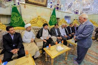 دیدار هیئت حوزوی از اصفهان با تولیت آستان قدس علوی