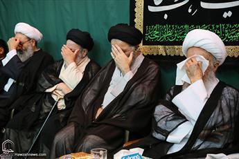 تصاویر/ عزاداری شهادت امام صادق(ع) در بیوت مراجع و علما