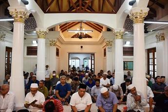 مسجد تاریخی ۱۱۴ ساله  سنگاپور بازگشایی شد/ هزینه ۱.۴۶ میلیون دلاری برای بازسازی مسجد