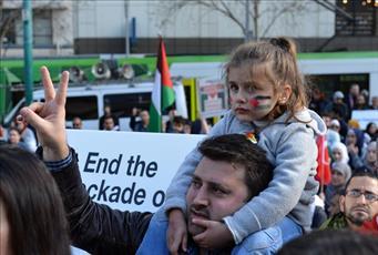 تصاویری از راهپیمایی ضدصهیونیستی در ملبورن استرالیا