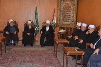 رهبر معنوی دروزی های لبنان با آیت الله قبلان دیدار کرد