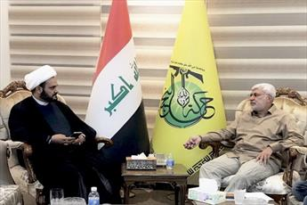 """نائب رئیس بسیج مردمی عراق با دبيركل """"نجباء"""" دیدار کرد"""