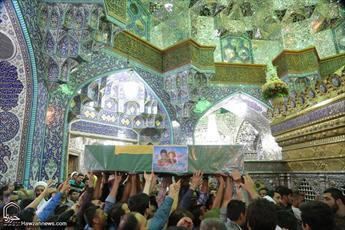تصاویر/ مراسم تشییع پیکر شهدای مدافع حرم حضرت زینب (س) در قم