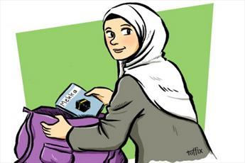 بانوی مسلمان کاریکاتوریست به جنگ اسلامهراسی میرود + تصاویر