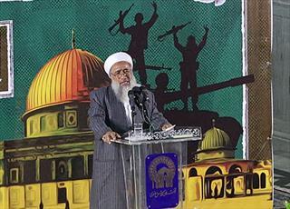 قلب رهبر معظم انقلاب برای مظلومیت مسلمانان جهان می سوزد/ حمایت از فلسطین وظیفه شیعه و سنی است