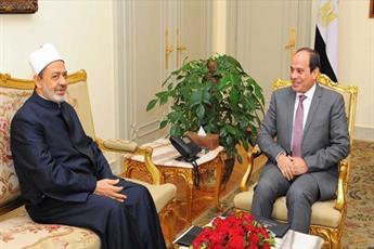 شیخ الازهر با رئیس جمهور مصر دیدار کرد