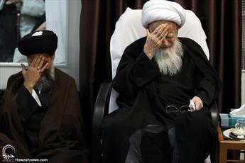 تصاویر/ مراسم عزاداری شهادت امام جواد(ع) در بیوت مراجع و علما -۱