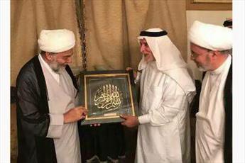 گروهی از دفتر آیت الله العظمی سیستانی با رئیس اوقاف اهل سنت عراق دیدار کردند