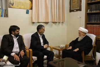 تصاویر/ دیدار وزیر فرهنگ و ارشاد اسلامی با مراجع و علما-۱