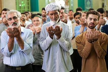 تصاویر/ نماز عید قربان در مسجد مقدس جمکران