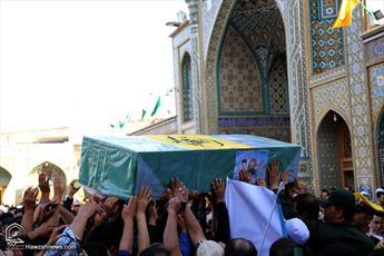 پیکر شهدای مدافع حرم در قم تشییع شد