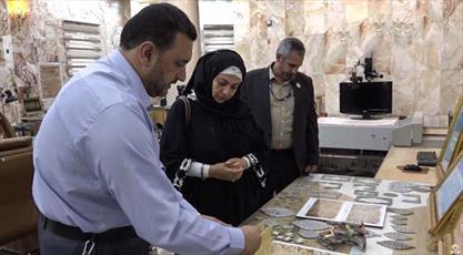 حضور مسئولان موزه مصر در حرم امام حسین (ع)