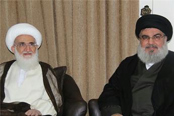 دبیرکل حزبالله لبنان با آیتالله العظمی نوریهمدانی دیدار کرد +تصویر