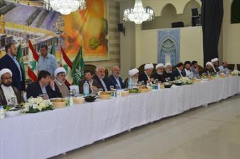 مراسم تکریم آیت الله العظمی نوری همدانی در لبنان برگزار شد
