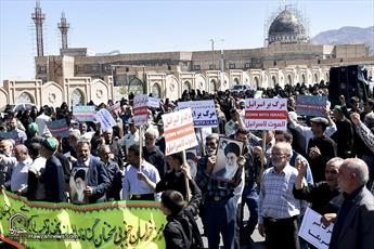 تصاویر/ راهپیمایی ضدآمریکایی نمازگزاران جمعه در بیرجند