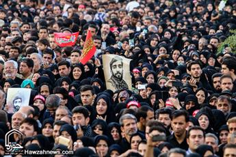 تشییع شهید حججی در زادگاهش/ آخرین وداع مردم انقلابی+ عکس