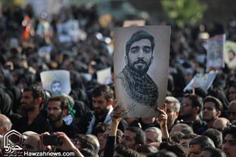 تصاویر/ مراسم تشییع و خاکسپاری شهید محسن حججی در نجف آباد