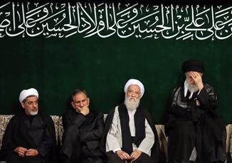 تصاویر/ مراسم عزاداری شب تاسوعای حسینی با حضور رهبر انقلاب