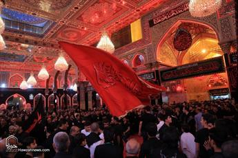 تصاویر/ مراسم عزاداری شب تاسوعا در کربلا