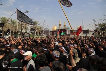 تصاویر/ مراسم عزاداری تاسوعای حسینی در کربلا