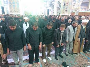 تصاویر/ اقامه نماز ظهر عاشورا در مسجد مقدس جمکران