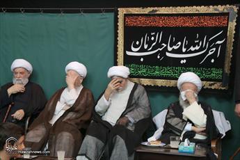 تصاویر/ مراسم عزاداری عاشورای حسینی در بیوت مراجع و علما-۱