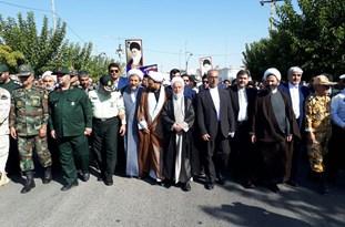 برگزاری مراسم نمادین استقبال از رهبر انقلاب اسلامی به خراسان شمالی