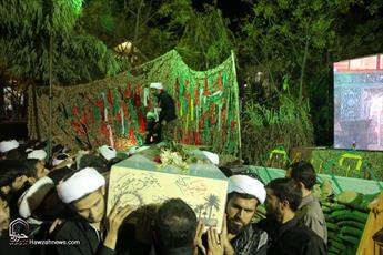 دفن شهدای گمنام در مدرسه علمیه پیوند مداد علماء و دماء شهداست