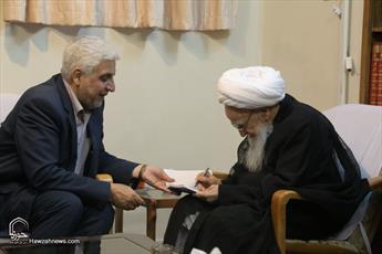 تصاویر/ دیدار رئیس دانشگاه آزاد اسلامی با مراجع و علما