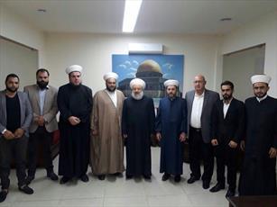 شیخ ماهر حمود از هئیت  جنبش امت لبنان استقبال کرد