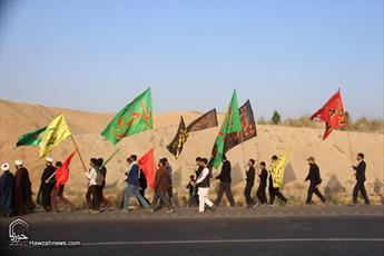 تصاویر/ راهپیمایی المصطفائیان با هدف تجدید میثاق با شهدای گمنام و مدافع حرم